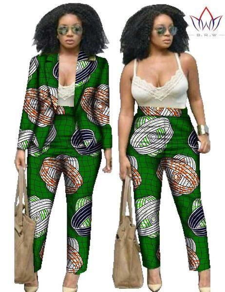 piece set pants  crop top  size women african