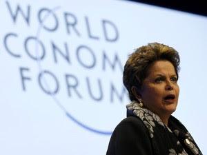 Dilma participa do Fórum Econômico Mundial, em Davos, na Suíça pela primeira vez. (Foto: Denis Balibouse/Reuters)