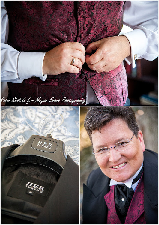 What if you don't want to wear a wedding dress for your wedding? Answer - HER Tuxedo - tuxedos for women - Washington DC and Baltimore Photographer