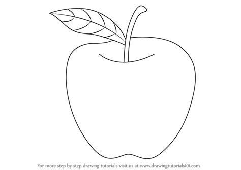 learn   draw  apple  kids fruits step  step