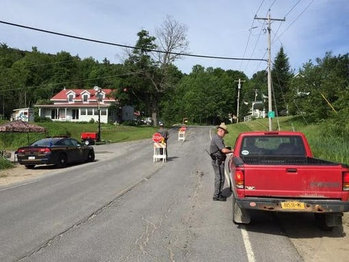 Police intensify their search around Malone, N.Y.,
