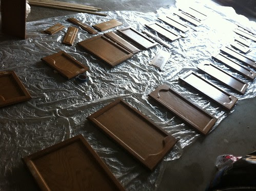 kitchen cabinet doors before painting