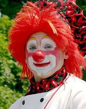 Typical clown makeup