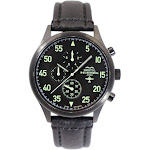 Bristol B-25 Mitchell Tribute - Black Dial w/Black Leather Band Watch