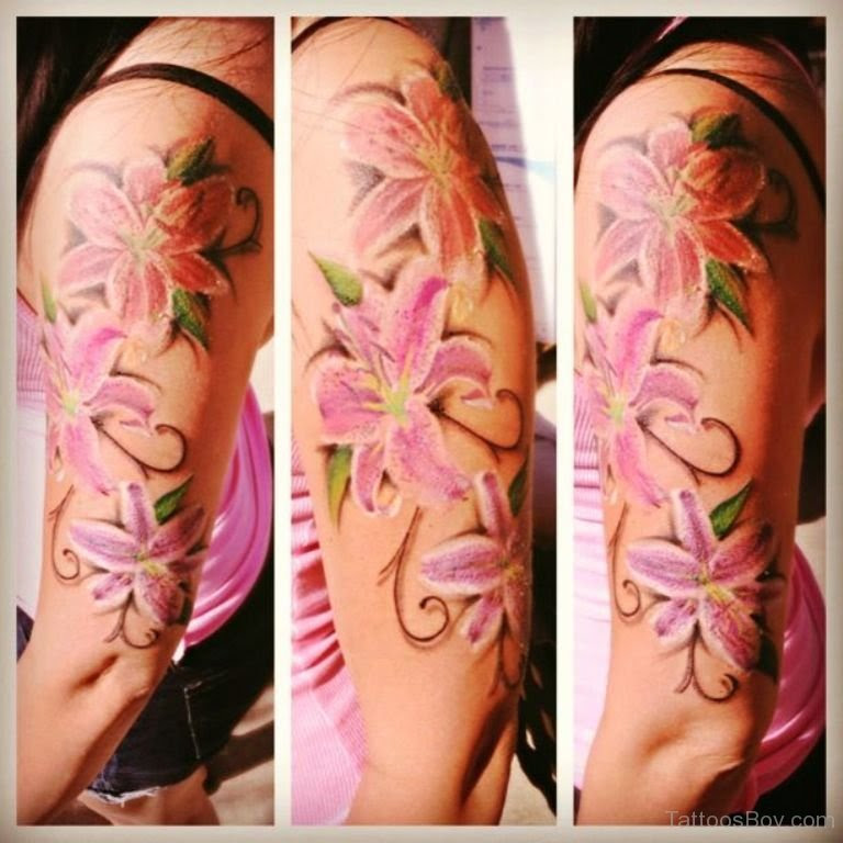 Lily Tattoo On Half Sleeve Tattoo Designs Tattoo Pictures