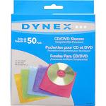 Dynex DX-S50C CD/DVD sleeve - Blue, purple, green, orange, pink
