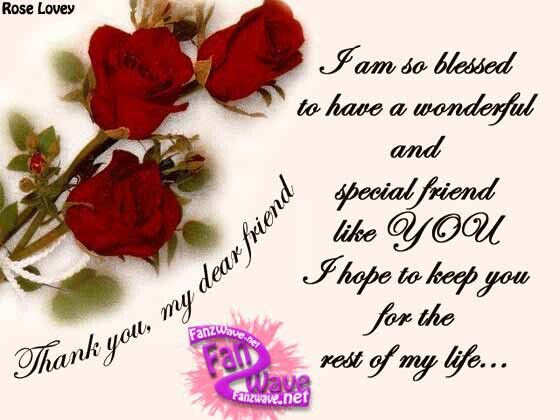 Thank You My Dear Friend Pictures Photos And Images For Facebook