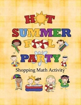 Pool Party Shopping Math is a fun way to incorporate matching both objects and totaling orders to match purchase amount.
