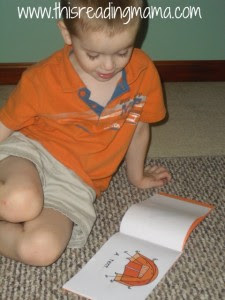 reading letter T book