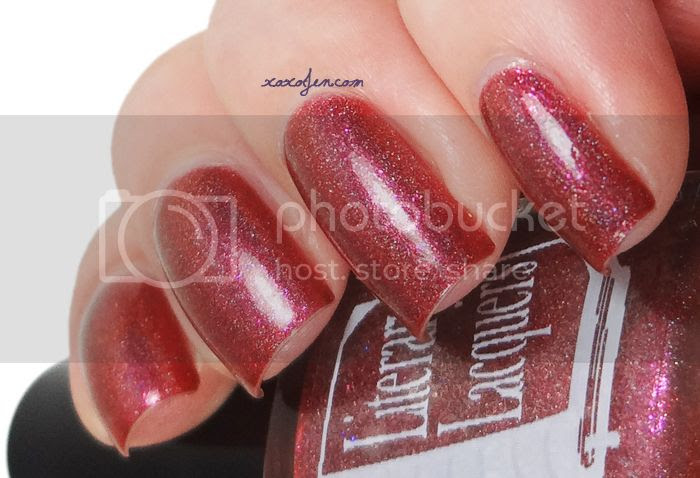 xoxoJen's swatch of Literary Lacquer Phenomenal Woman