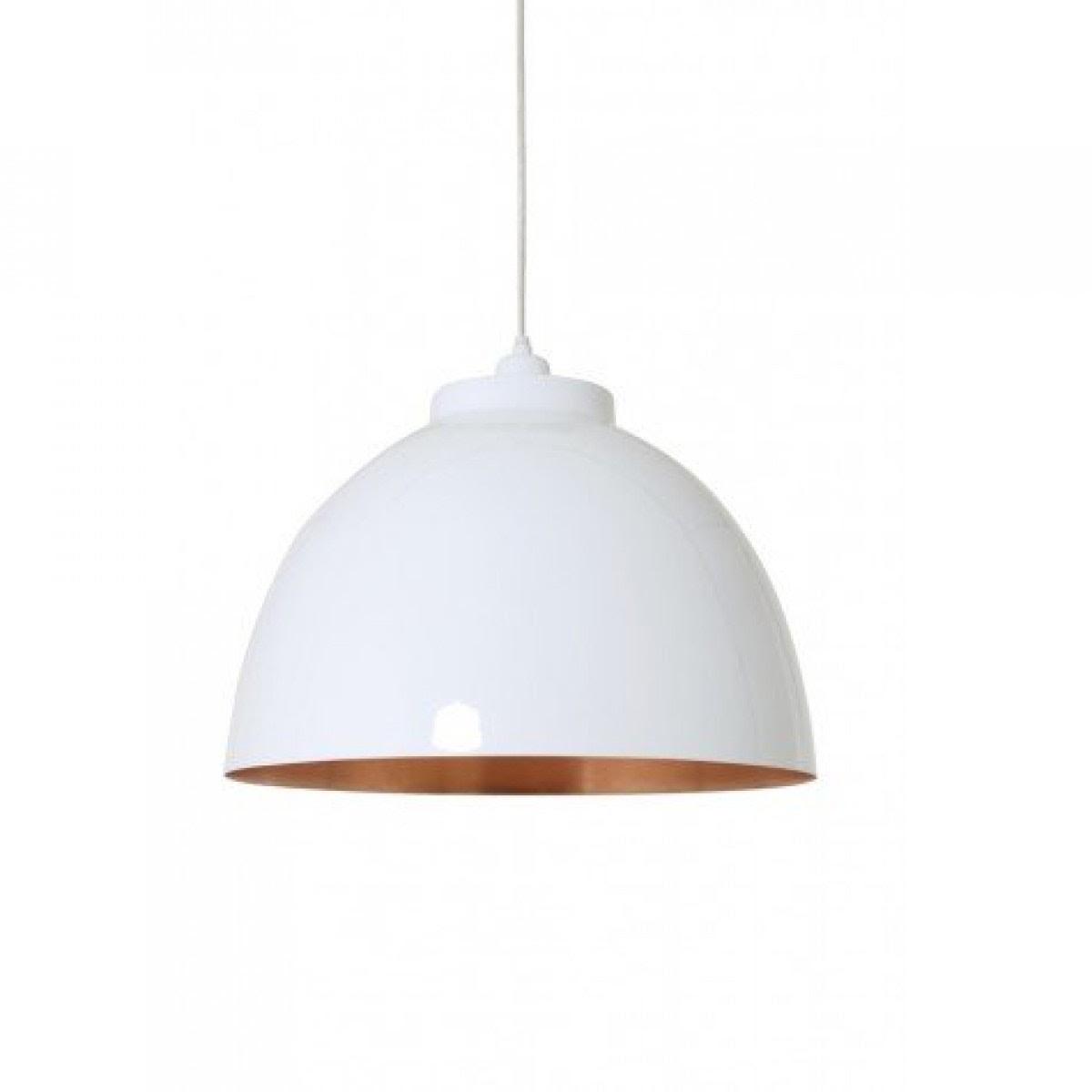 Pendelleuchte weiß-kupfer, Hängelampe weiß, Lampe weiß, Ø ...