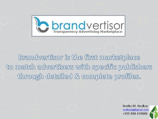Brandvertisor #startup pitch - #Advertising Marketplace to match #Adv…