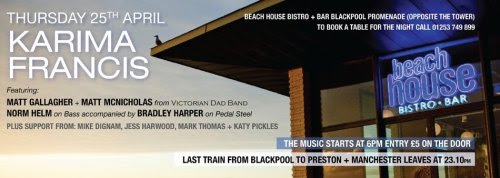 This thursday I am playing at The BeachHouse on Blackpool Promenade! Alongside some AMAZING artist. You should really get down if you can, its definitely one not to miss!Doors open @ 6pm. First act is on @ 6.30pm. £5 on the door :-) See you there XX