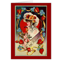 Vintage Lady My Valentine Card
