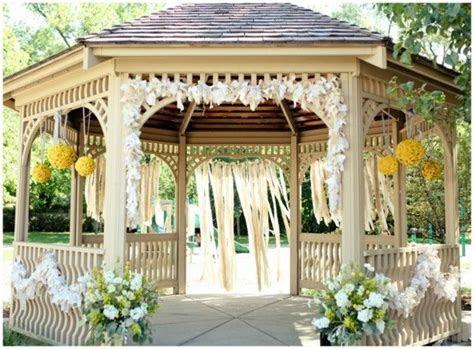Decorating the Gazebo   Wedding Venues   Pinterest