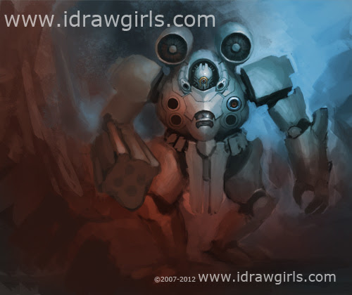 How to draw Manga, Mecha, Mech, Robot, anime, painting, speedpainting, speedpaint, tutorial