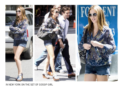 Leighton Meester wearing Hudson Jeans Amy Shorts