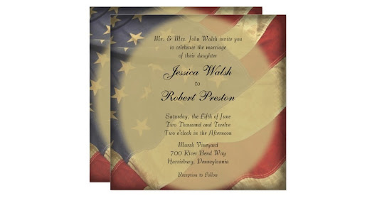 American Flag Wedding Card | My Interests Scooped for You