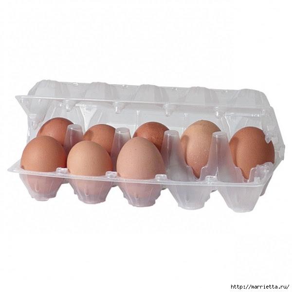 Цветочный букетик из пластиковых упаковок для яиц (600x600, 108Kb)