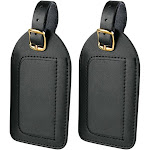 Travel Smart Luggage Tags, Leather, 2 Pack - 2 tags