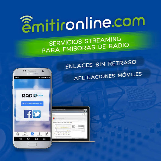 Streaming radio EMITIRONLINE.COM: Emitir Radio por Internet - Emitir Online - Shoutcast - Shoutcast2 - Icecast2 - AAC+ - MP3 - HTML5 - Flash - Radio en Internet - Centovacast - Enlaces - Aplicaciones iPhone - Aplicación Android - Servidor streaming