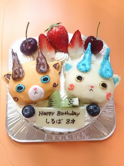 画像 妖怪ウォッチのコマさんとコマじろうのキャラケーキが
