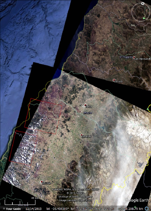 Exploring the Chile wildfires with Landsat and Sentinel-2 imagery - Google Earth Blog