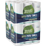 Seventh Generation Paper Towels, 100% Recycled, Big Roll, Right Size, 2-Ply - 6 rolls