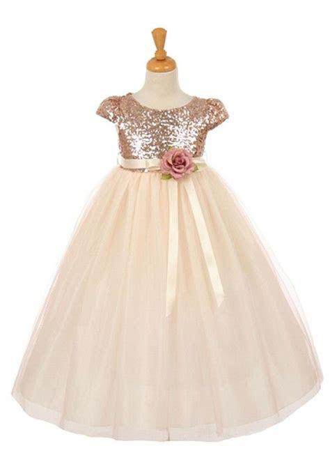 Blush Stunning Sequin Flower Girl Dress   wedding gowns