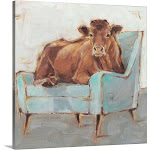 Moo-ving In IV | Canvas Wall Art | 20x20 | Great Big Canvas