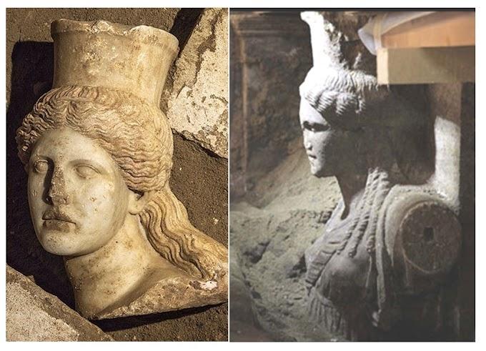 Αμφίπολη Το κεφάλι δεν πρέπει να ανήκει σε Σφίγγα της εισόδου .΄Ίσωςυπάρχει και άλλο άγαλμα στον 3 θάλαμο