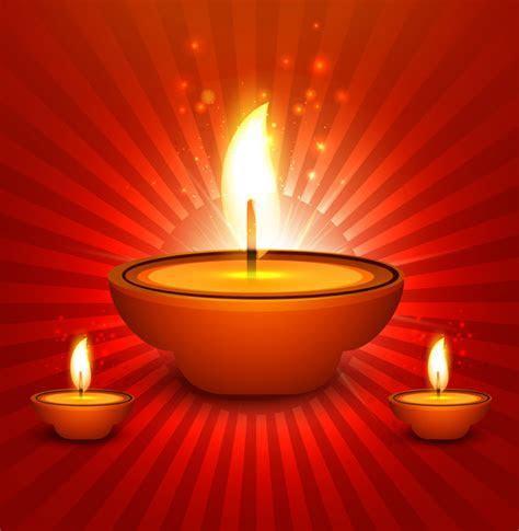 Beautiful diwali diya art element vector background Free