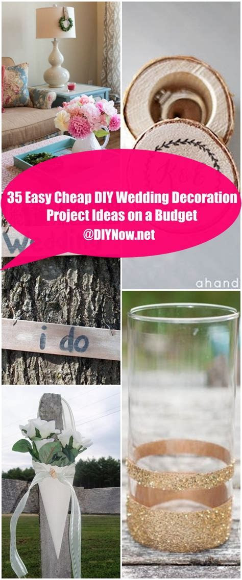 35 Easy Cheap DIY Wedding Decoration Project Ideas on a