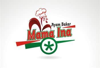 galeri desain logo  makanan ayam bakar mama ina