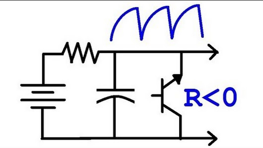 just found a simple oscillator circuit by eric using a bjt