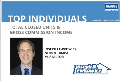 Joseph Lewkowicz Recognized as Top Individual in Coldwell Banker's 2018 Statewide Quarterly Report - Press Release - Digital Journal