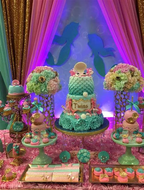 Twins Under the Sea Mermaid Party   Birthday Party Ideas