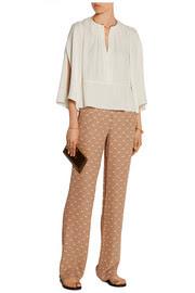 Mitrana printed silk-georgette wide-leg pants