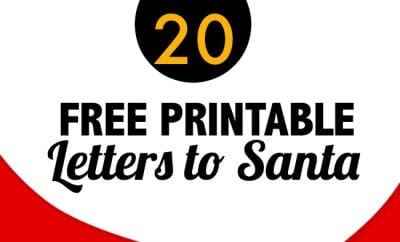20 Free Printable Letters to Santa Templates