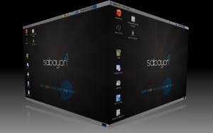 Sabayon Linux 4 GNOME con Compiz Fusion attivo