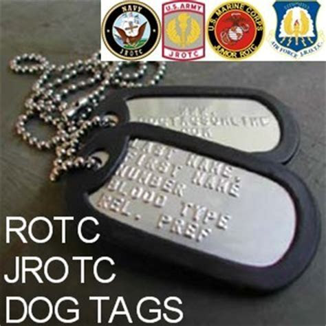 ROTC Dog Tags   JROTC Dog Tags   Army, Air Force, Navy