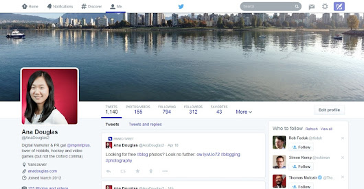 5 Cool Features in the New Twitter Design