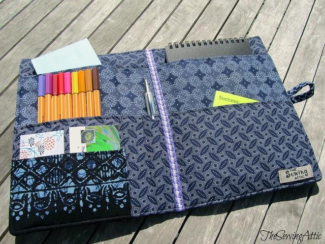 Boho batik writing/journalling compendium