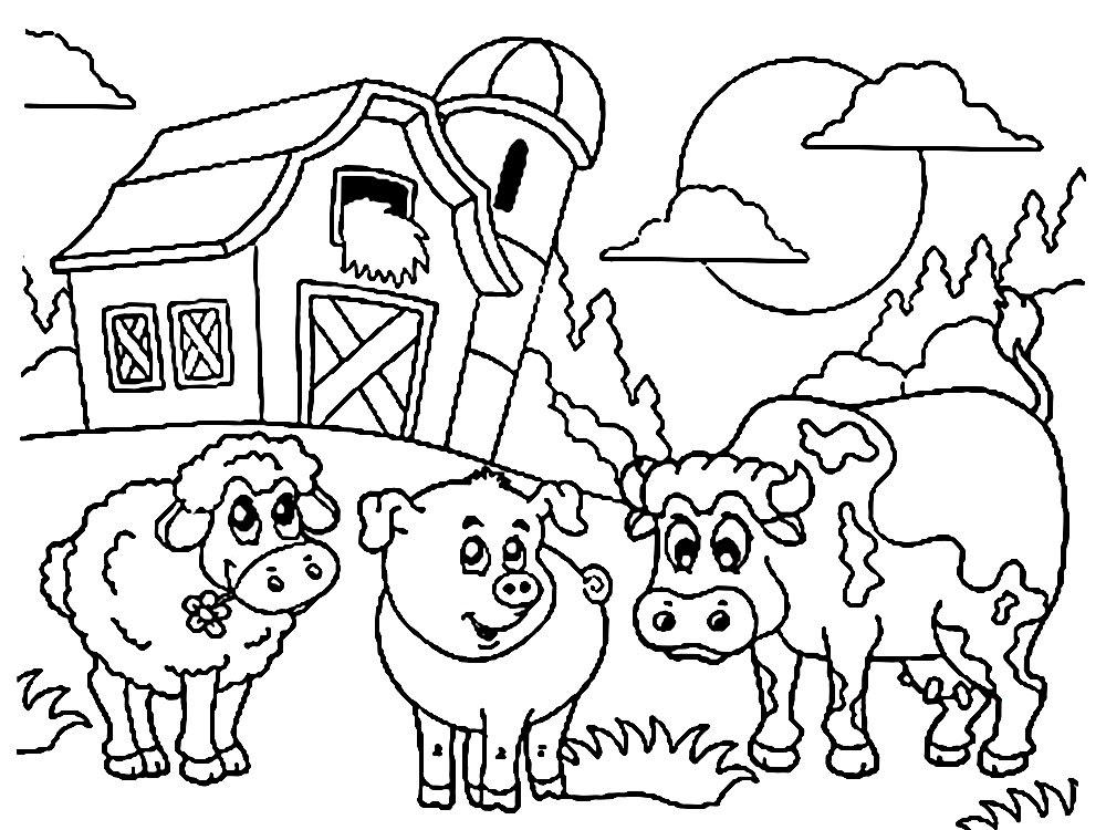 Imprimir Dibujos Para Colorear Granja Para Niños Y Niñas