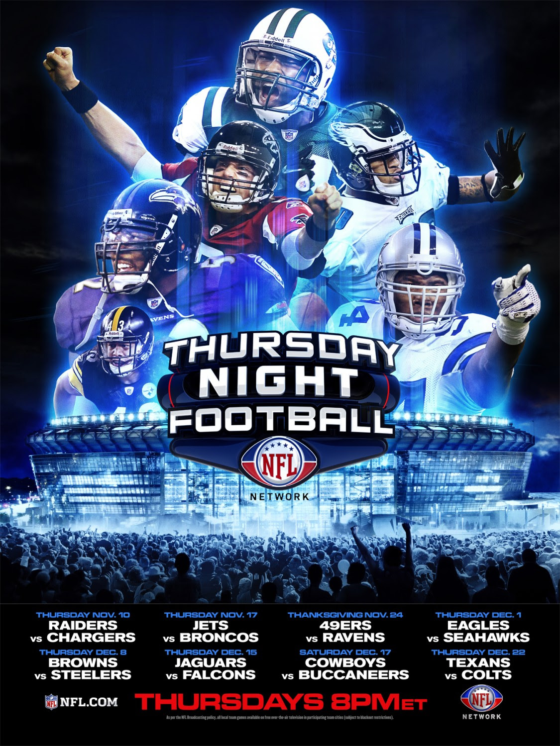Thursday Night Football 3 Of 3 Extra Large Movie Poster Image