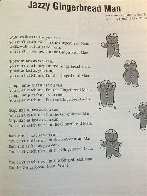 gingerbread man lyrics