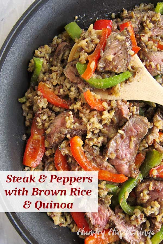 It's so easy to prepare a hearty meal of Steak and Peppers with Brown Rice and Quinoa by starting with Knorr® One Skillet Meals. #sponsored #GetMor… | Dinner R…
