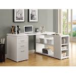 Monarch Hollow-Core Left or Right Facing Corner Desk, White
