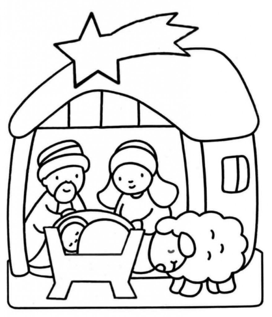 400 Top Bible Coloring Pages Nativity  Images