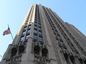 The Tribune Tower in Chicago.
